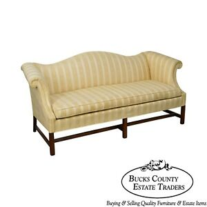 Hickory Chair Mahogany Chippendale Style Sofa
