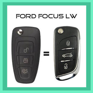 Ford Focus Lw And Lw Mk11 Remote Flip Key