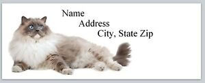 Personalized Address Labels Cute Siamese Cat Buy 3 Get 1 Free p 486