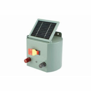 Electric Fence Charger Solar Powered Adjustable Control Farm Horses Cattle S