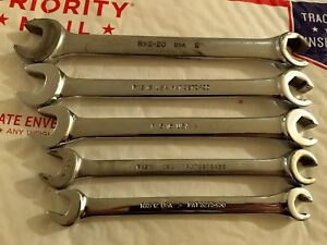 Snap On 5 Piece Line Wrench Set Sae Standard