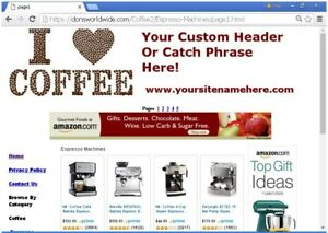 Coffee Shop Business Website For Sale Free Setup hosting domain bonuses Plus