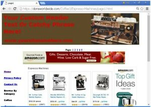 Coffee Shop Turnkey Website For Sale Free Setup domain hosting bonuses Plus