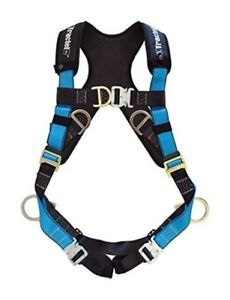 Tractel Small Fall Protection Construction Harness Auto Buckle Front Back D ring