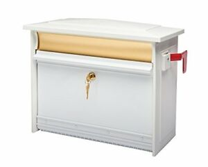 Gibraltar Msk0000w Extra Large Lockable Security Wall Mount Mailbox White