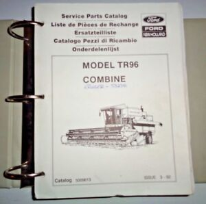 New Holland Tr96 Combine 971 973 Grain Heads Parts Catalog Manual Binder Nh