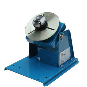 110v Rotary Welding Positioner Turntable Table Mini 2 5 3 Jaw Lathe Chuck