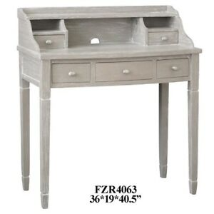 5 Drawer Accent Office home Desk Weathered Burnished Grey 36 l X 40 5 h