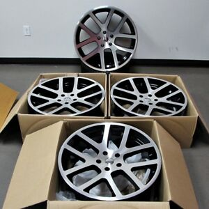 Fits Dodge Charger Challenger Magnum 300c 22 Viper Style Wheels Machined Black