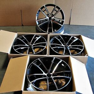 Fits Dodge Charger Challenger 300 20 Daytona Style Wheels Machined Black