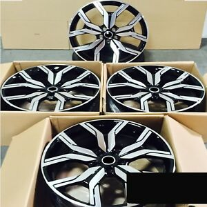 Fits Range Rover Evoque 5x108 Rims 22 Style 1266 Black Machined Wheels