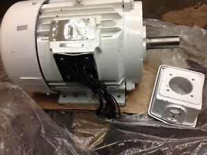 10hp Electric Motor 3 Phase 1760 Rpm Frame 215 T Sterling Electric Motor New