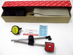 Starrett 657me Magnetic Base Holder Set With 25 181j Metric Dial Indicator 56357