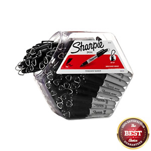 Sharpie 35124 Fine Point Mini Permanent Marker Black 72 pack Canister New Fre
