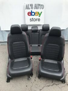 2015 Vw Jetta Gli Seats Black Leather Vinyl Red Trim Driver Power Full Set Oem