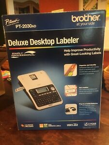 Brother P touch Deluxe Desktop Labeler Pt 2030ad Brand New