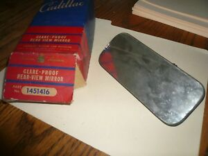 Vtg 1940s Cadillac Glare Proof Rear View Mirror P n 1451416 Nos Painted