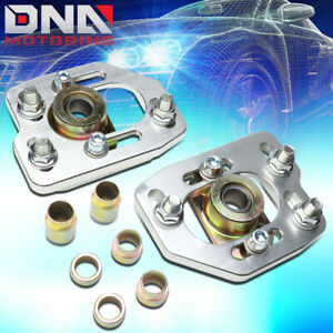 For 1990 1993 Ford Mustang Front Aluminum Adjustable Camber Caster Plates Kit
