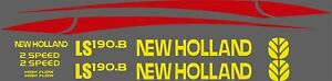 New Holland Ls190 b Skid Steer Decal Kit For Your Loader Ls 190b Free Shipping