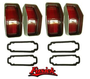 1970 Olds 442 Cutlass S Tail Light Lens Set With Gaskets Oldsmobile