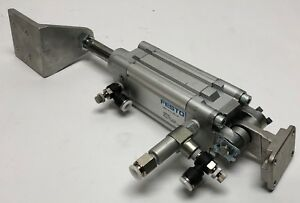 Festo Dnc 2 2 ppv a Air Cylinder Pneumatic Piston Pmax 10 Bar 145psi Used Dnc