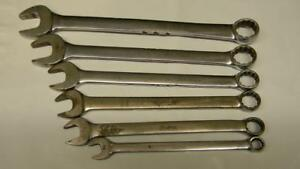 Snap On 6pc Sae Standard Handle 12pt Combination Wrench Set