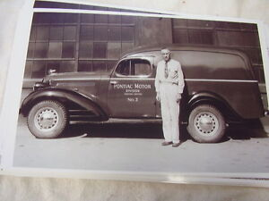 1939 Pontiac Panel Truck Factory Special 11 X 17 Photo Picture