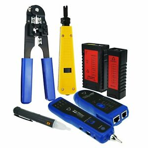 Network Cable Testing Diagnosis Tool Ethernet Lan Cable Tester Voltage Rj45 Rj11