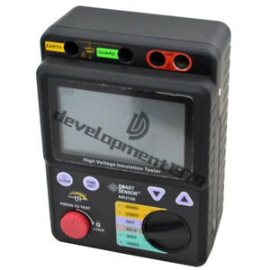 Smart Sensor Ar3126 High Voltage Insulation Tester 500v 1000v 2500v 5000v