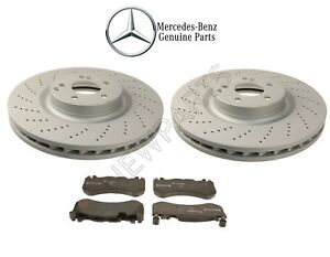 For Mercedes W204 C63 Amg 08 15 Front Brake Pads Vented Drilled Rotors Kit Oes
