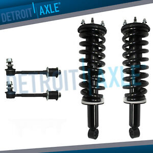 Pair Of Front Strut Coil Spring Sway Bar Kit For 2000 2001 2002 Toyota Tundra