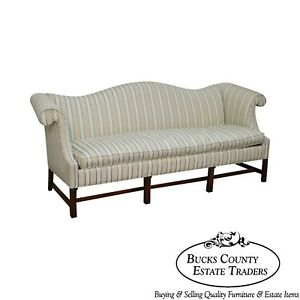 Chippendale Style Mahogany Frame Sofa By Southwood