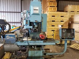 Blue Hurco Cnc mb 1s knee Mill With Tool Changer And Tool Holders Included