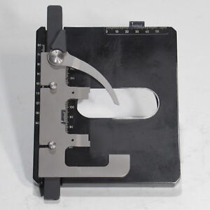 Carl Zeiss Mechanical Stage W Slide Holder For Axioskop 20 50 Microscope 453522