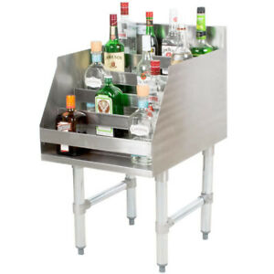 18 Five tiered Stainless Steel Nsf Listed Liquor Display Rack 23 Deep New