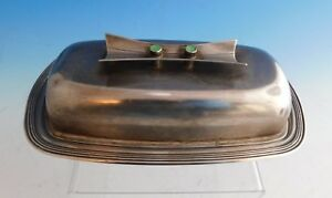 Jade Plain By Towle Contempra House Sterling Sp Butter Dish Covered 2226