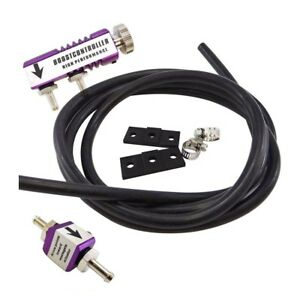 Adjustable Racing Turbo 30psi Manual Boost Bypass Controller Kit Purple New