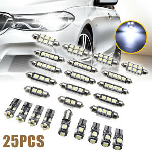 25pcs Car Interior White Led Lights Bulbs Kit For Bmw X5 E70 M 2007 2013