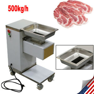 Meat Cutting Machine Meat Cutter For Chicken beef pork W 3mm Blade Slicing Meat