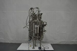 Abec 150l Jacketed Reactor Stainless Steel W Bottom Mount 1 4 Hp Drive Agitator