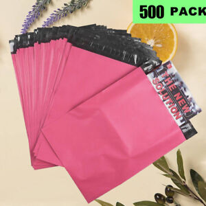 500 Hot Pink Poly Mailers 10x13 Shipping Envelopes Plastic Mailing Bags 2 5 Mil