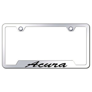 Licensed Mirrored Cut out License Plate Frame W acura Script Augd3681