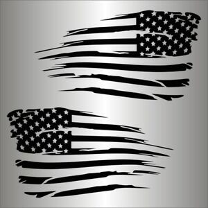 American Flag Distressed Military Usa Decal Sticker Jeep Chevy Ford Toyota