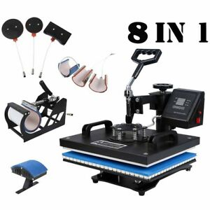8 In 1 Heat Press Machine Digital Transfer Sublimation T shirt W Transfer Paper