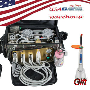Usa Portable Dental Turbine Unit Air Compressor Carry Bag 2 4 Hole For Dnetist