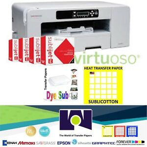 Sawgrass Virtuoso Sg800 Printer Cmyk Ink 100 Sh Each Sublipaper Sublicotton