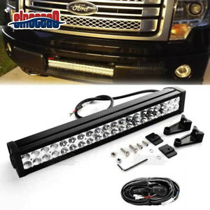 For 2009 2014 Ford F150 Lower Hidden Bumper Grille 120w Led Light Bar wiring
