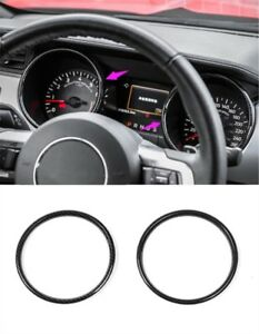 Carbon Fiber Style Dashboard Decorative Ring Trim For Ford Mustang 2015 2018
