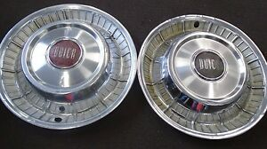 1957 Buick Roadmaster Hubcaps 15 Set Of 2