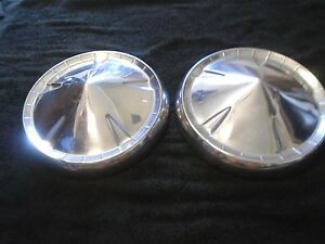 1957 1960 Dodge Plymouth Mopar Dog Dish Hubcaps Set Of 2 Oem